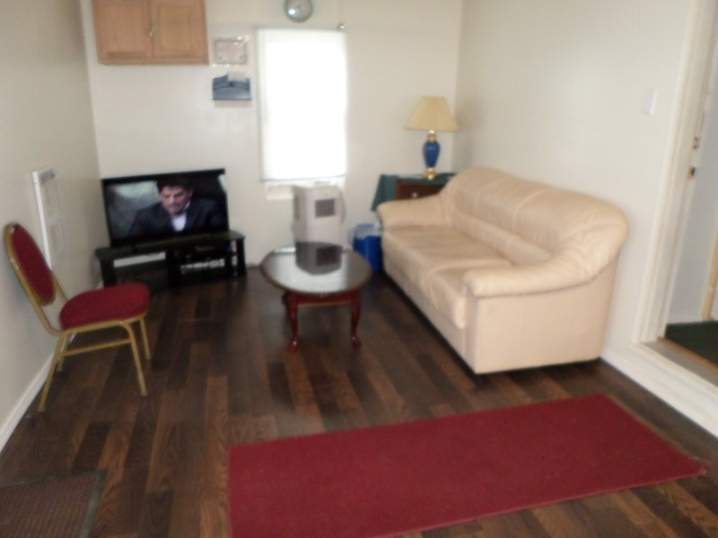 Large Living Room 10x20 feet with sofa bed and sofa TV.