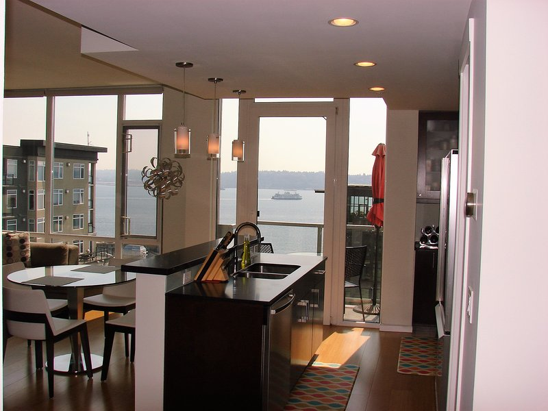 furnished downtown seattle penthouse condo 2 bed 2 bath water view