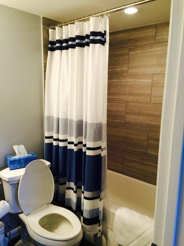 Guestroom tub/shower on-suite Bath