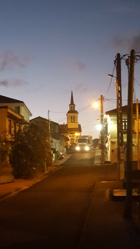Church of the three islets in the morning