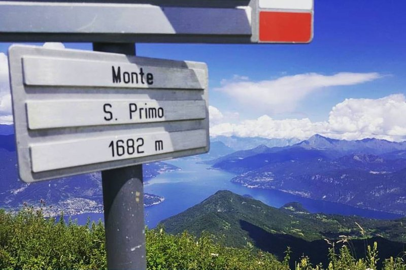 The top of Monte San Primo