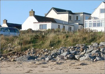 The back of the house, as seen from the beach.