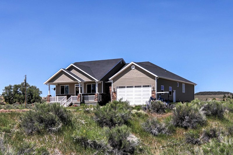 Escape to your own desert paradise with this private 6-bedroom, 3-bath vacation rental home in Hatch, Utah.
