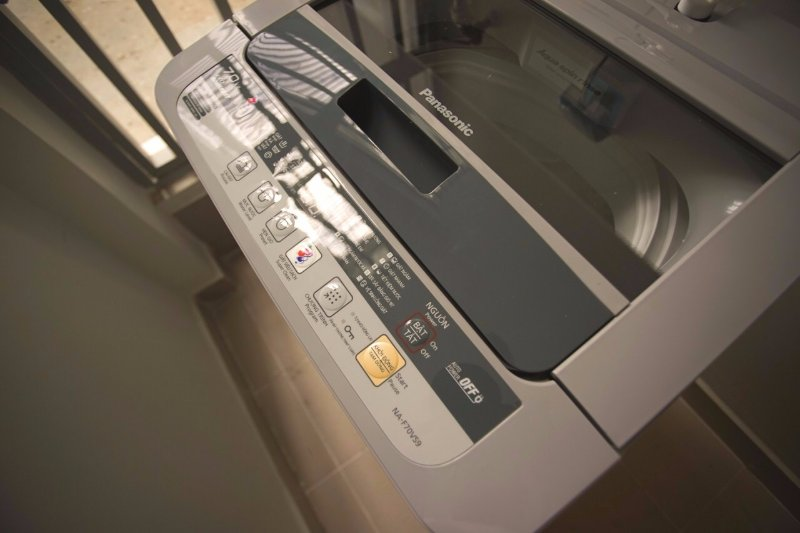 Washing machine with washing powders available
