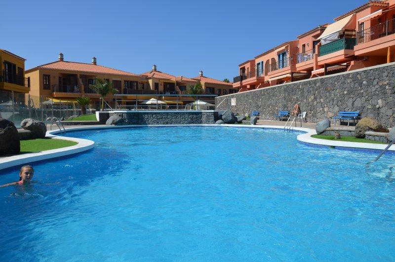 Uma das três piscinas