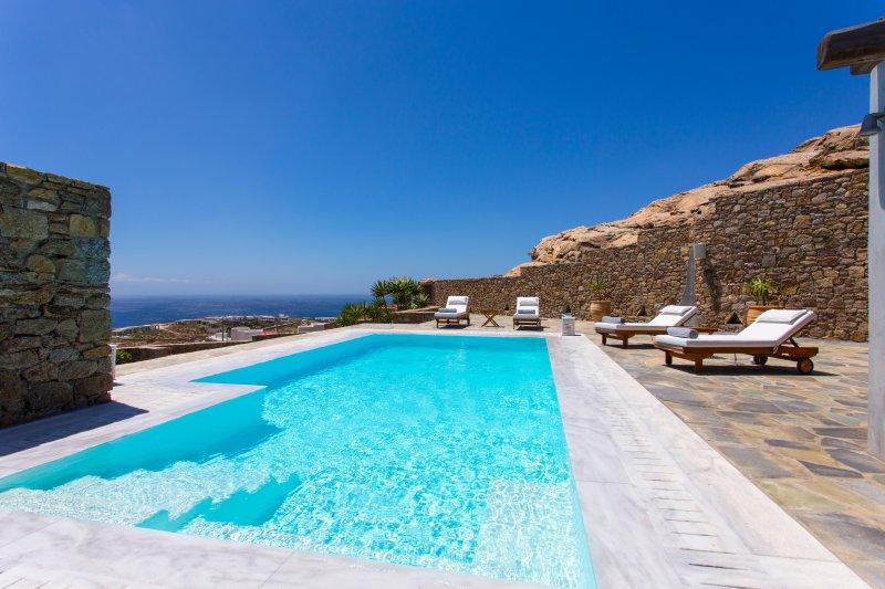 Villa sea view Elia MYKONOS, alquiler vacacional en Elia
