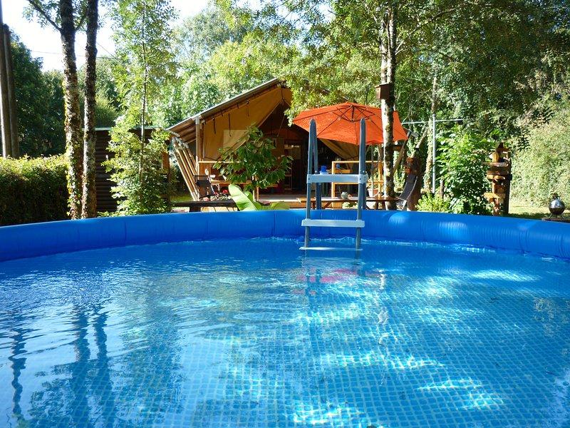 Panama Jacks: luxe kamperen op het Franse platteland, location de vacances à Messe