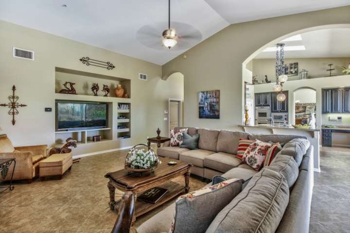 Plenty of seating to relax in the family room