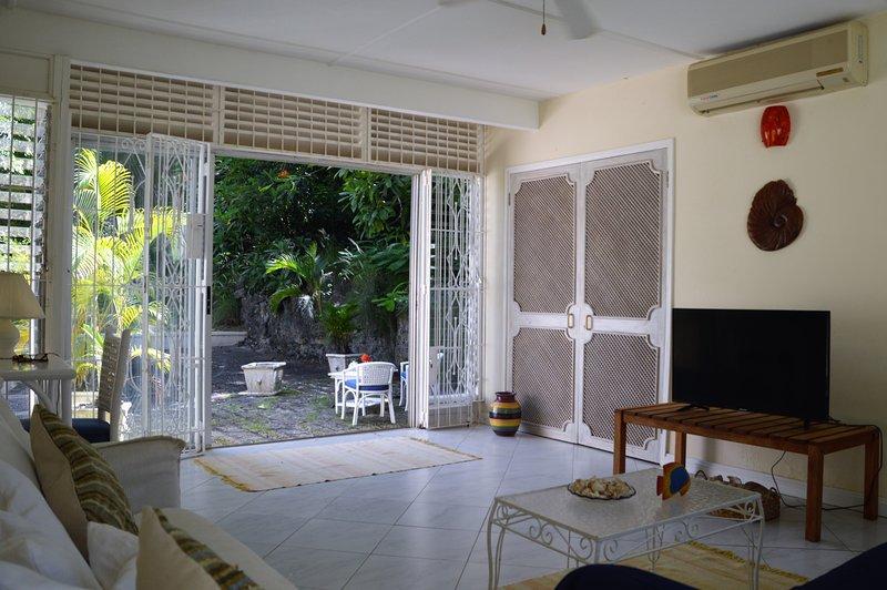 sala de televisión para patio