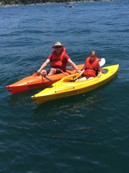 Guests enjoying our kayaks!!