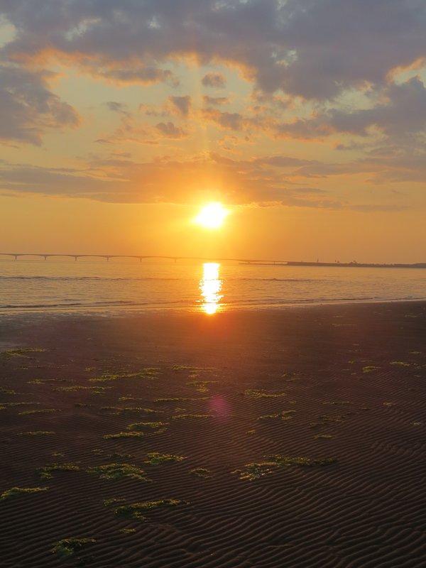 A Sunset típica en la playa. Esto sucede todos los días!