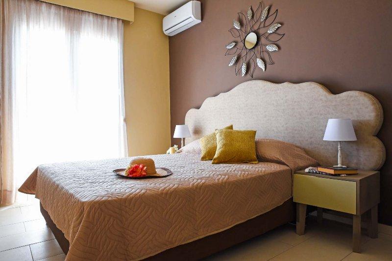The villa has three bedrooms