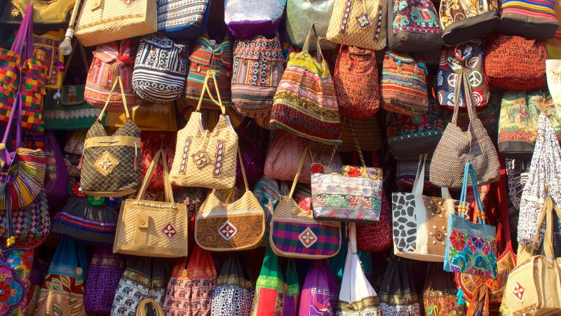 Comercial de la plaza de mercado de Calangute