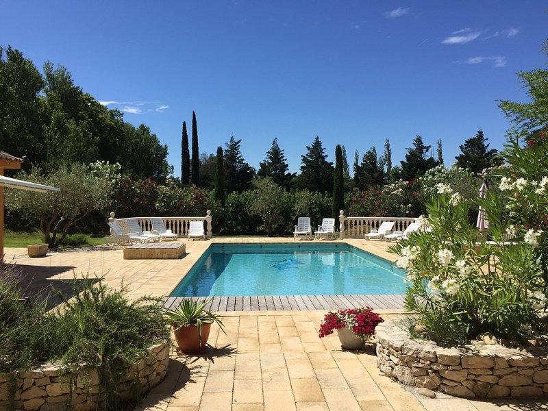 Swimming pool in the ocher sun gite group and family Avignon