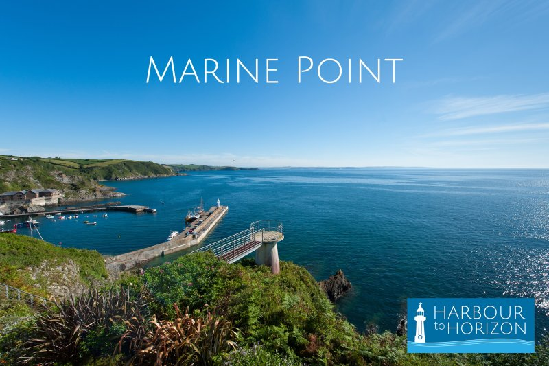 Marine Point sits on the cliff edge with stunning views from the balcony from 'harbour to horizon'