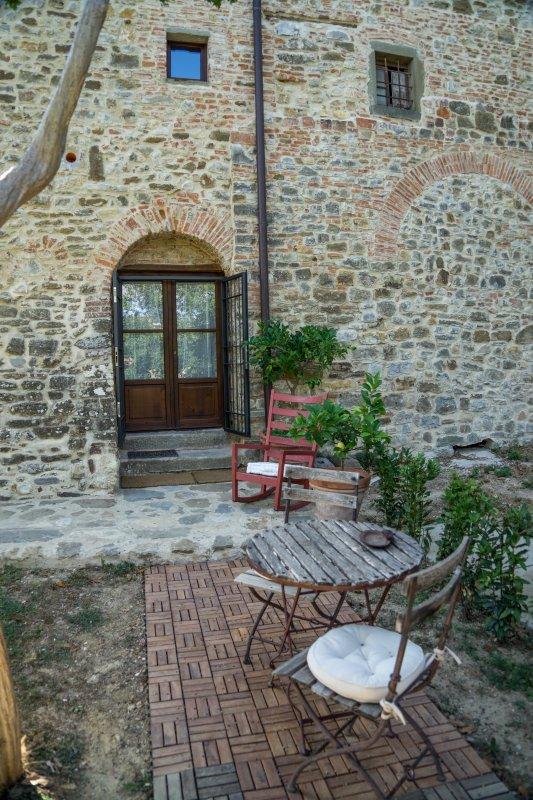 The garden and the front door