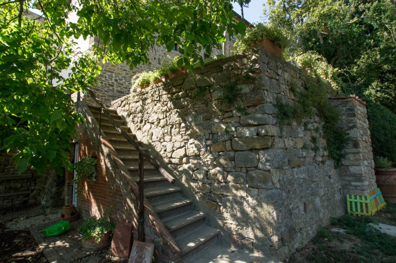The external staircase