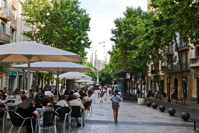 Sagrada Familia, zone piétonne Avenida Gaudi - à côté de l'appartement