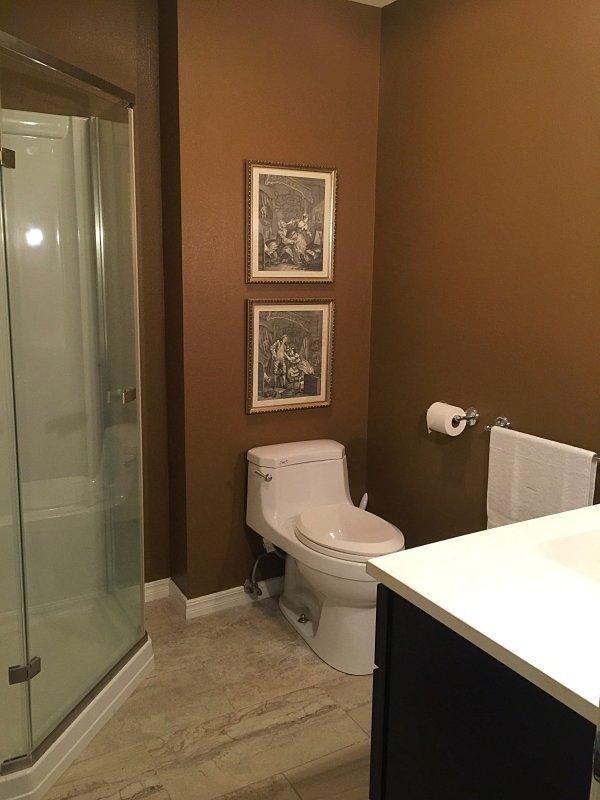 En la planta baja del vestíbulo / baño contiguo con cabina de ducha