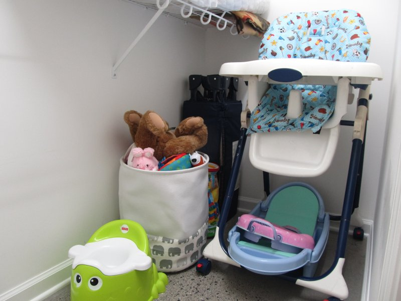 Baby items: high chair, pack n play, potty, bath tub, booster seat, and toys!