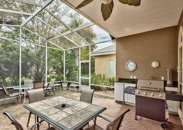 Villa Soleil - Patio fermé et Coin barbecue