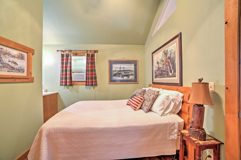 With tasteful decor you'll love falling asleep in the comforts of this room.