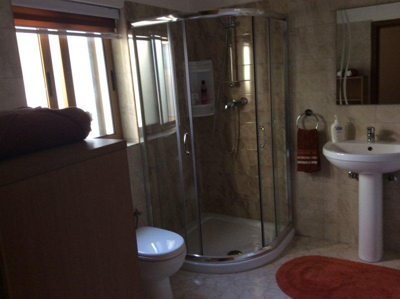 Ensuite bathroom; shower, sink & toilet.