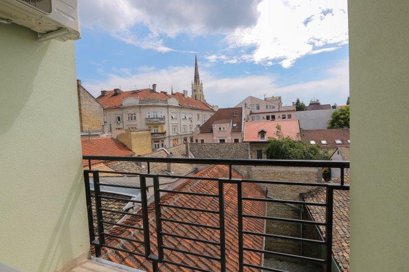 Una vista desde la terraza