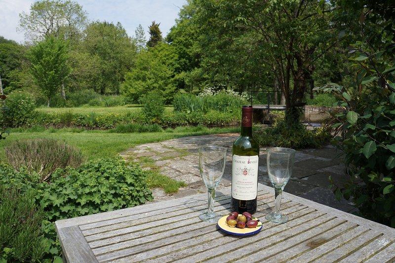 Tiempo para relajarse en la terraza!