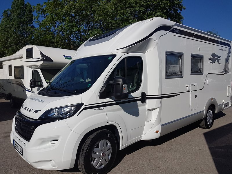 Laika Ecovip 312, a luxus motorhome with a home type bed on the back, holiday rental in Sofia