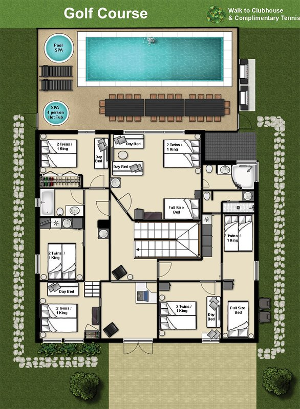 The Mansion: Floor plan Upstairs
