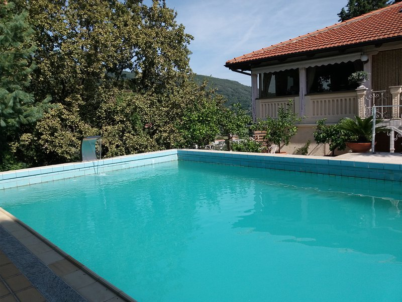 The pool at the treeline.