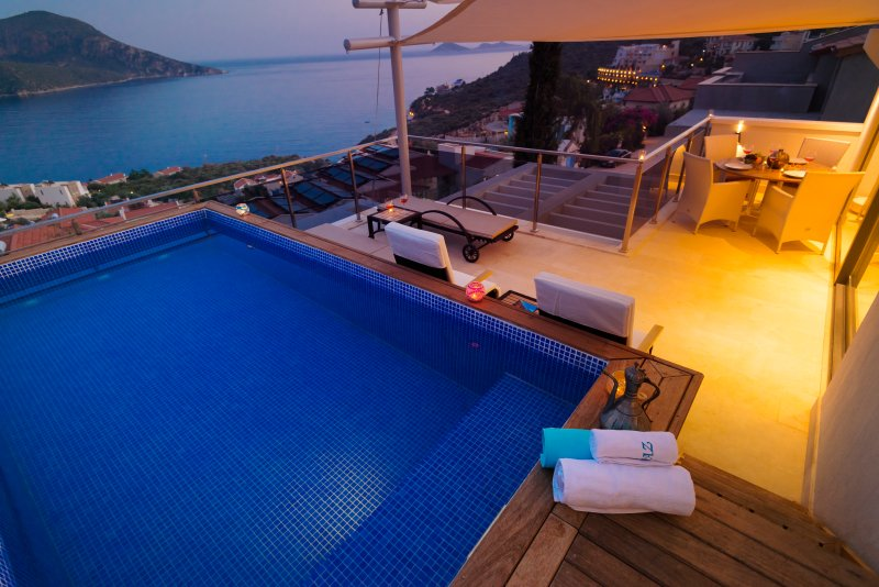 Private Terrace with pool and breathtaking sea views.