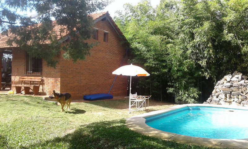 Partial view pool and barbecue