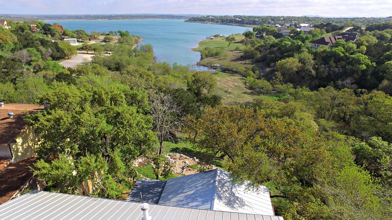 Aerial View from Above Texas Rose Lodge