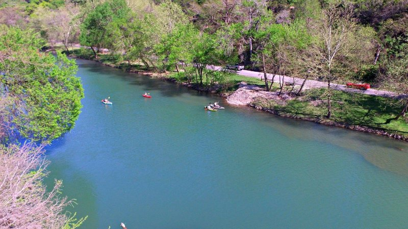 The Clear and Cold Guadalupe River - Take the scenic drive down River Road or visit a friendly river outfitter, 9 miles from Texas Rose Lodge