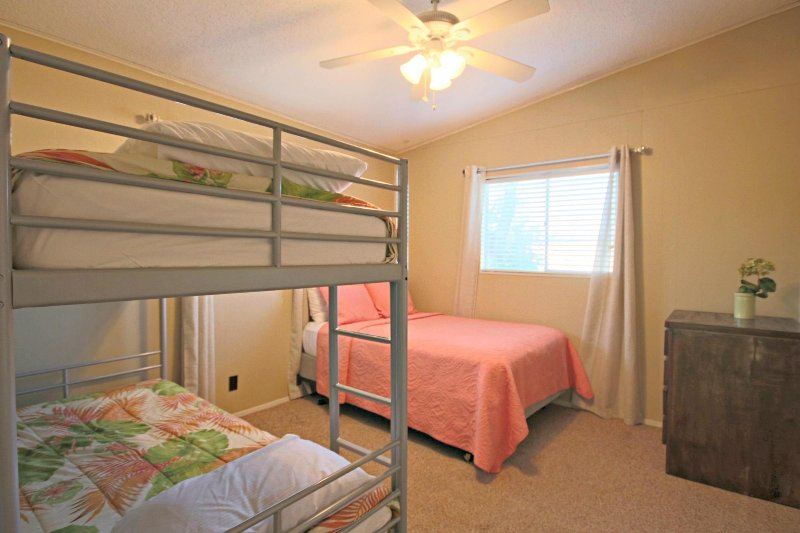 Third Bedroom with Full Bed & Twin Bunks