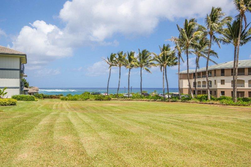 Poipu Sand hat eine große Rasenfläche