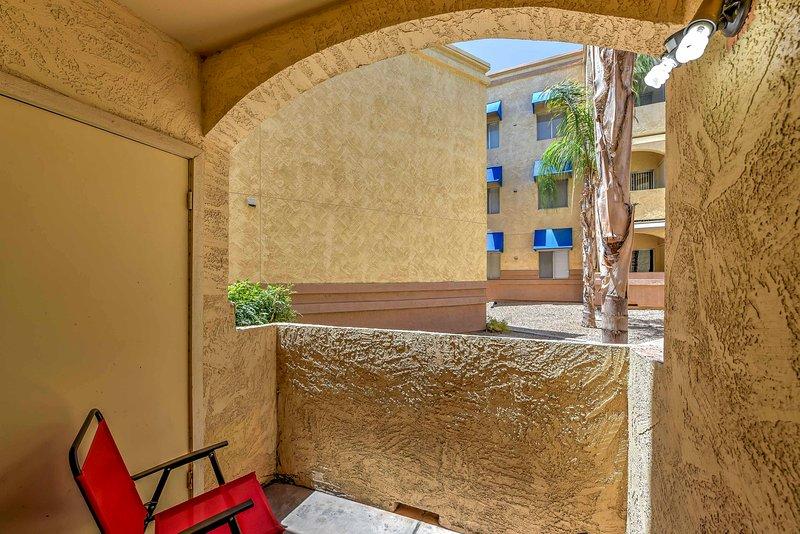 Balcon privé parfait pour commencer votre journée sur une bonne note!
