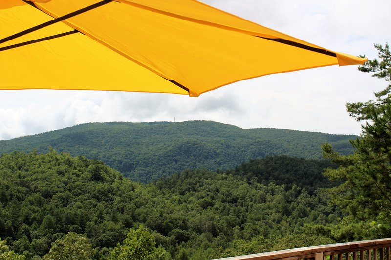 Enjoy the fresh mountain air from the deck