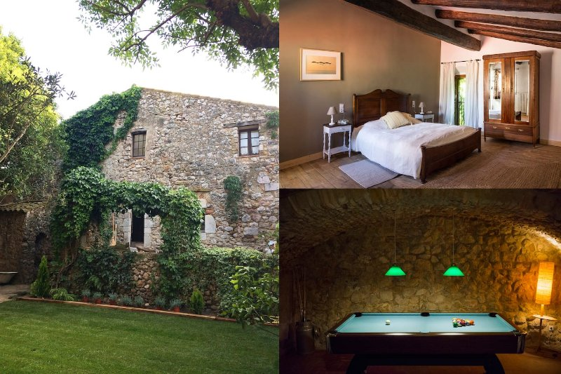 Preciosa masía s.XVII con jardín x16, vacation rental in Cistella