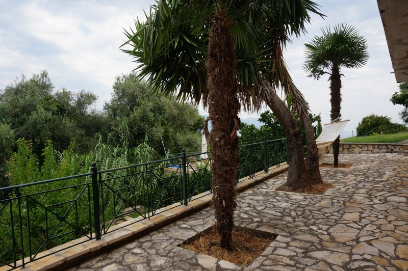 Terrace with a view, very quiet and centrally located, large pool