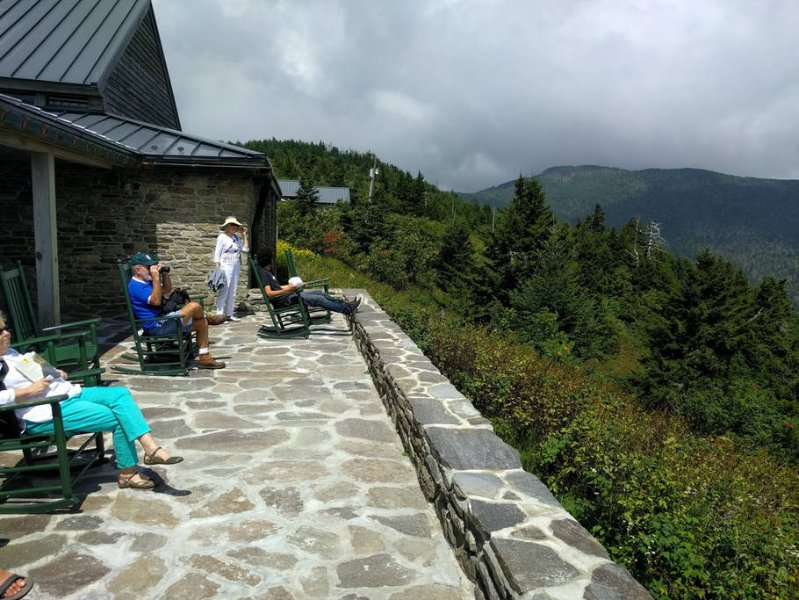 Restaurant near the top of Mitchell mountain