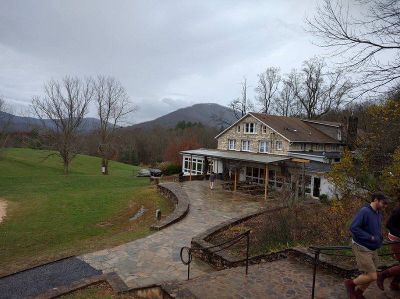The Cafeteria at Penland School of Craft. Great views, coffee, tea, cookies, and sandwiches