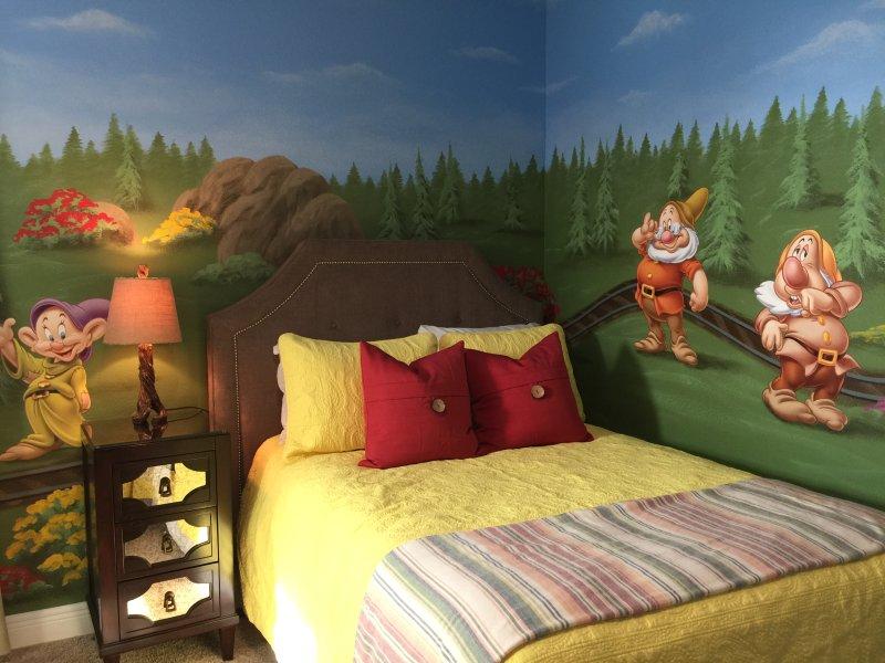 Disney Themed Kid Friendly Bedroom