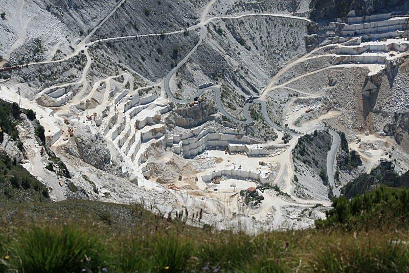 marble quarries of Carrara