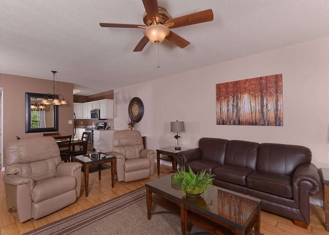 Large Living Room with Leather Furnishings