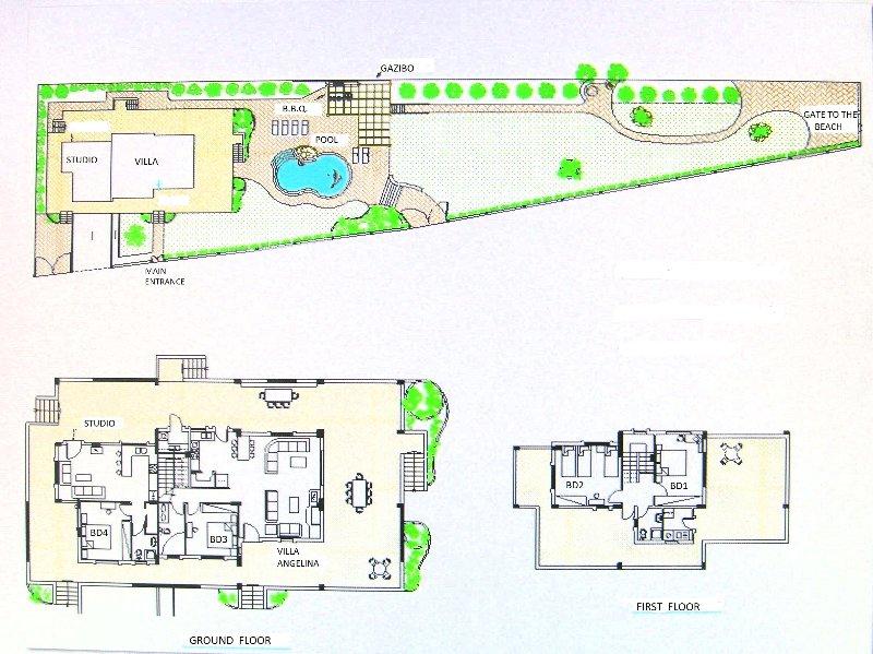 Diseño de la propiedad (planta).