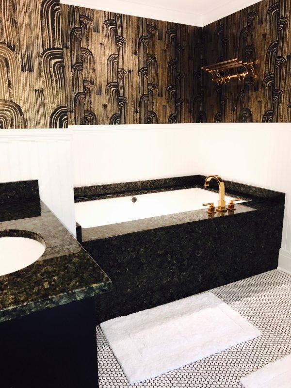 Mestre casa de banho 2 com banheira de hidromassagem e duche