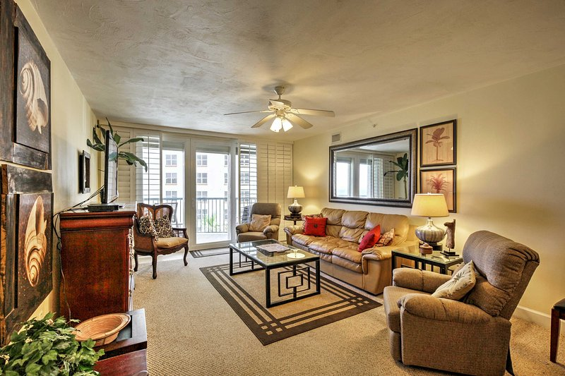 Create a lifetime of memories when you stay in this 2-bedroom, 2-bathroom vacation rental condo in Daytona Beach Shores.